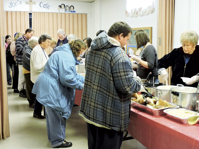 File Photo The Baptist Temple of Parkersburg will hold its annual free community dinner from 11 a.m. to 1 p.m. Jan. 1.