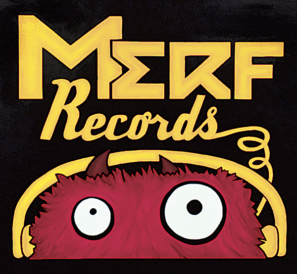 The Merf Records logo as it appears on all products from Merf Records.