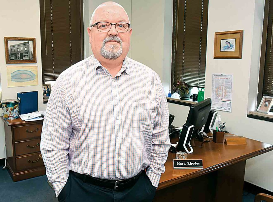 Photo by Jeff Baughan Wood County Clerk Mark Rhodes was the West Virginia representative to the Voter Fraud Commission, which President Donald Trump eliminated Wednesday by executive order. Rhodes was one of the few Democrats on the commission.