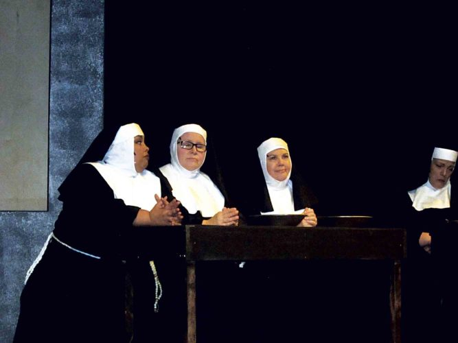"File Photo The Actors Guild of Parkersburg presented ""Sister Act"" in November. The current season continues later this month with ""Peter and the Star Catcher"" opening Jan. 12."