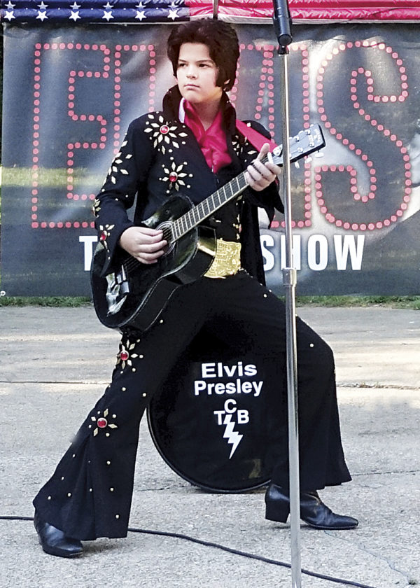 Photo Provided Hank Poole, 12, of Wood County performs as an Elvis tribute artist at a local event.