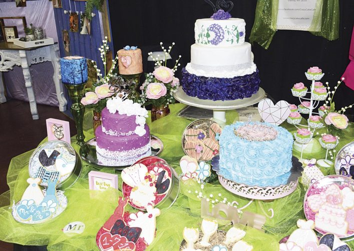 Photo by Doug Loyer The Crazy Cake Cafe of Vienna showcased many of its cakes during the Marietta Bridal Show.