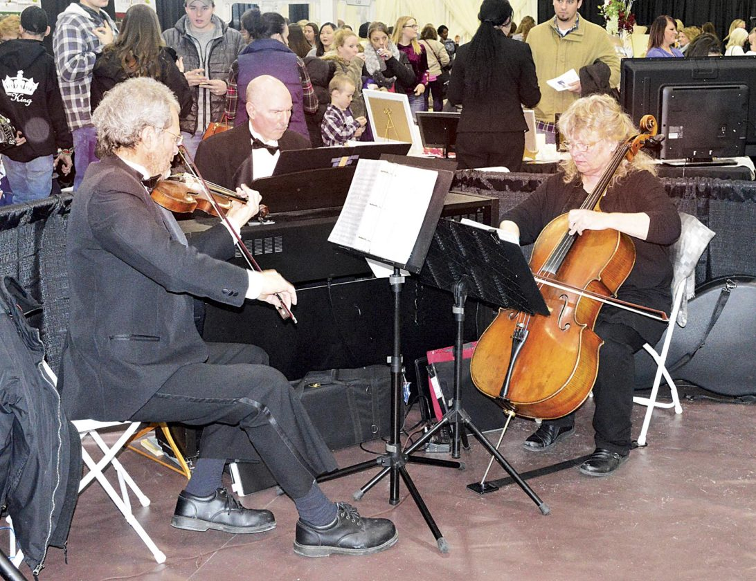 Photo by Doug Loyer The Trillium Piano Trio filled the room with beautiful music.