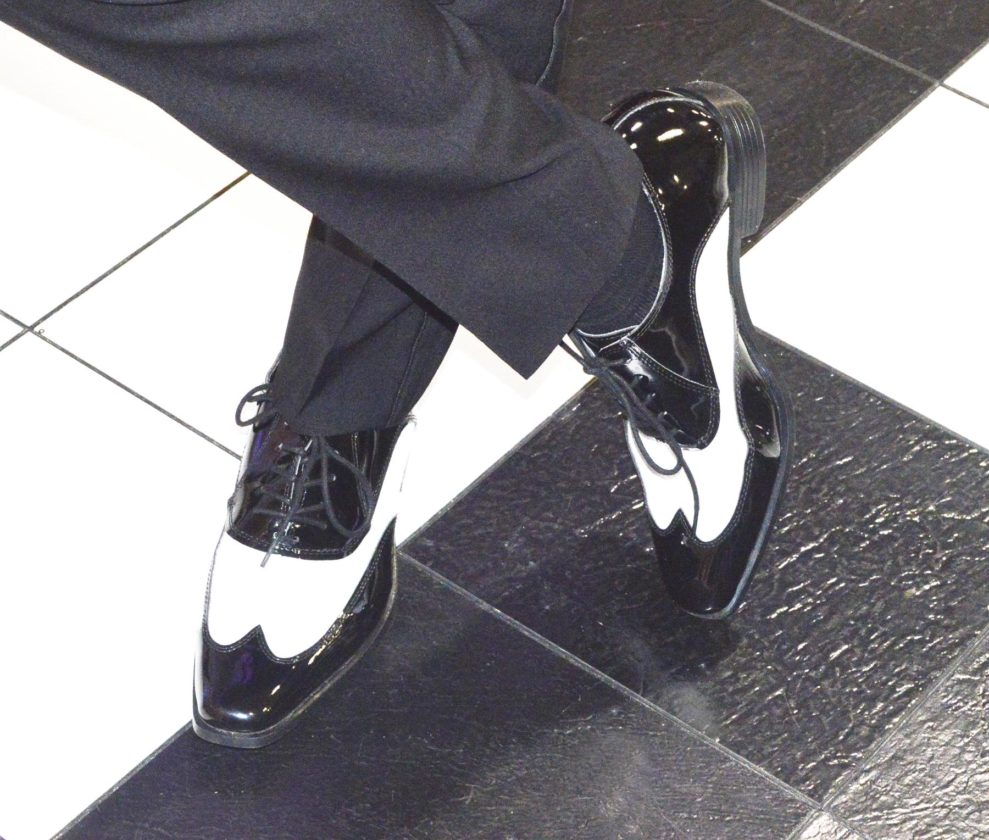 Photo by Doug Loyer Nick Fouss of Event Designs sported these stylish shoes from Hornor and Harrison.
