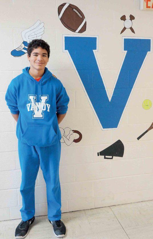 Van Devender Middle School 8th-grader Zachary Howard is this week's Teen of the Week. (Photo by Michael Erb)