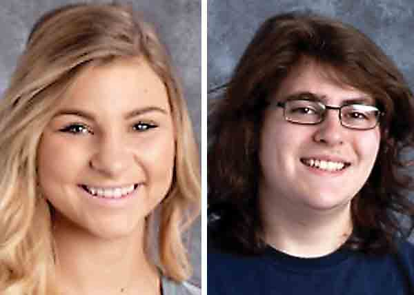 The Washington County Career Center has named Sydney Benson, left, and Scott Cunningham as its January Students of the Month.