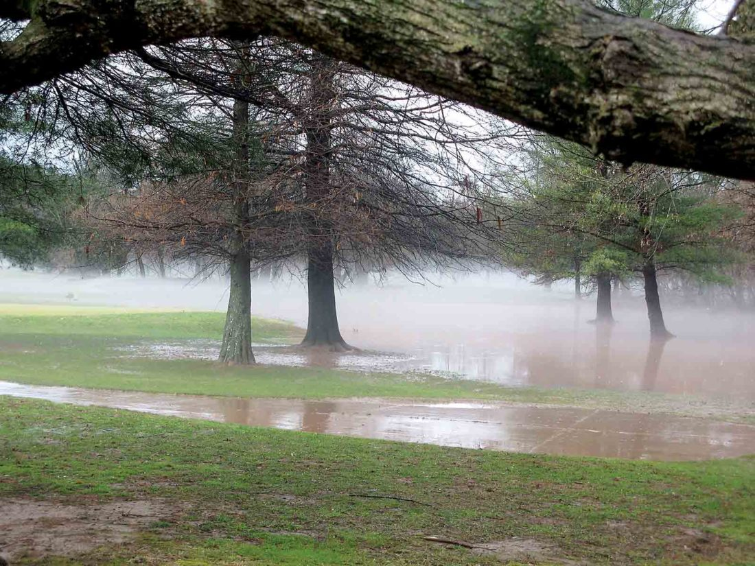 Photo by Jeffrey Saulton A portion of Worthington Golf Course had areas of standing water Friday afternoon.