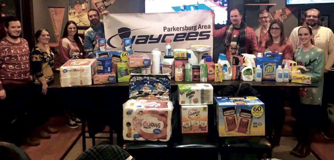 Photo Provided The Jaycees held their annual Christmas party and collected for the Latrobe Street Mission.