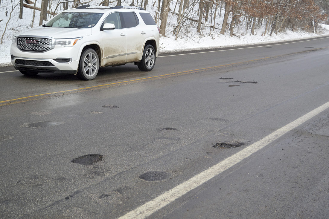Photo By Erin Ou0027Neill Drivers Try To Navigate Potholes And Loose Gravel On  Ohio 60. Several Complaints Have Been Made To ODOT Regarding Damage Done To  ...