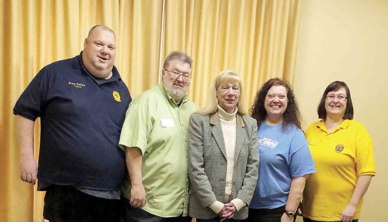 Photo Provided Sherry Dugan was elected president of the West Virginia Junior Chamber International Senate on Jan. 27. She is a former president and U.S. Jaycees vice president. From left: Bruce Hufford, chairman of the board; Rick Rutter, administrative vice president; Dugan; Robin Bunch-Woods, secretary; Chris Hufford, treasurer.