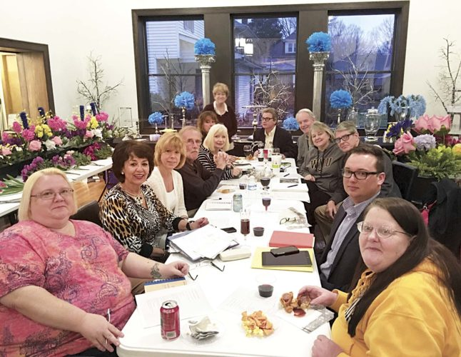 Photo Provided The 2018 Easter Parade Committee includes: left side, front to back, Sharon Coleman, Kiki Angelos, Sheilia Aldsworth, David Stephens, Joyce Stephens, Carrie Carlson, Sally Beckwith, and John Coe; right side, front to back, Debby Nesselroad, Jeremiah Runyon, Bob Marshall, Susan Abdella and Tom McCormick; and not pictured, Carole Hanlon, Jennifer Perkins, Tina Perkins, Tom Beckwith, Brenda Coleman, Sharon and David Longacre, Tiffany Waybright, Tracy and Guy Lynch, Daniel Miller, Rod Joachim, JJ Summerville and Monica James.