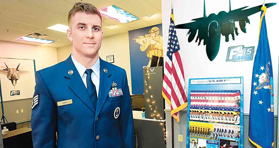 air force recruiter staff sgt joshua ewings recruiting office is located in the grand central mall in vienna ewing joined the office in early november