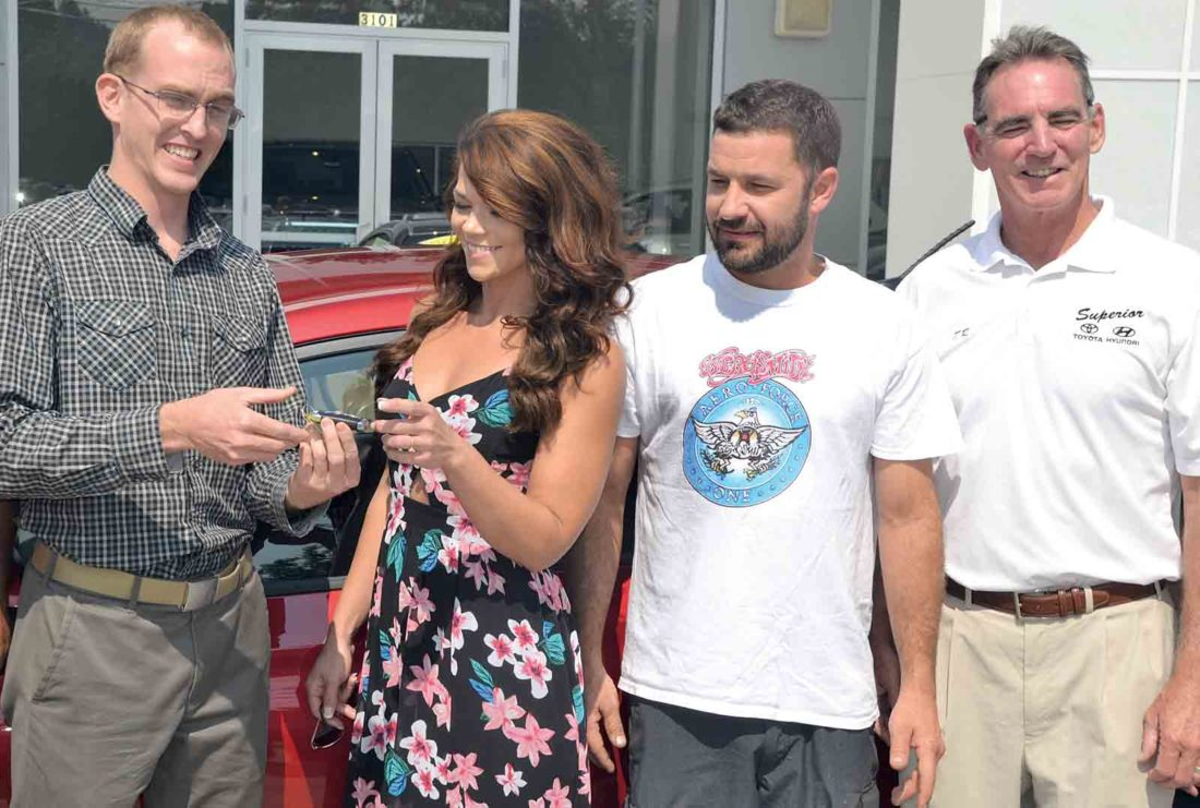 Photo By Brett Dunlap Superior Toyota Hyundai Manager Tommy Hathaway  Presents The Keys To A New 2018 Hyundai Accent SE Wednesday To The  Parkersburg ...