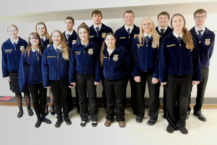 Photos from Sleepy Eye FFA The Sleepy Eye FFA Chapter had 15 State FFA Degree candidates for 2017. (Front l-r): Anna Landkammer, McKayla Aschenbrenner, Melissa Kral, Cheyenne Gardness, Allison Helget, Natalie Sellner, Sarah Rossbach, Isabella Portner, Johnny Rosenhammer, Lane Trebesch, Adam Steffl, Colten Gemmill, and Hunter Rose. Not pictured: Zoe Macklanburg, Tyrah Stoll.