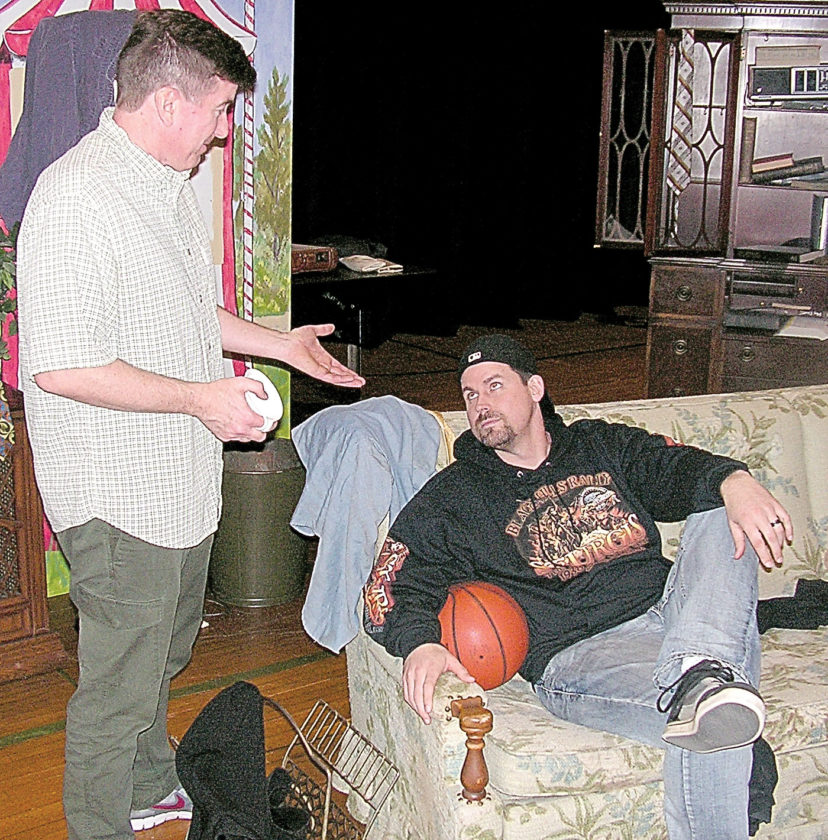 Submitted photos Above: Kent Menzel (left) plays Felix and David Holmes (seated) is Oscar in the State Street Theater Company's performance of The Odd Couple.