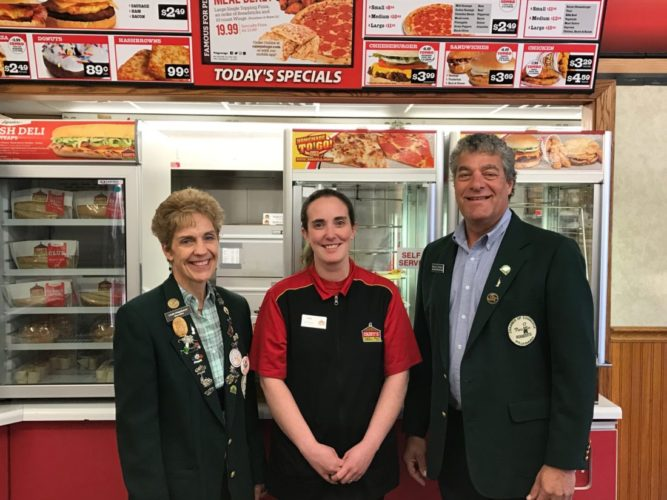 Submitted photo  From left, Linda Neigebauer, Alliance Bank; Erin True, Casey's; Brian Serbus, SouthPoint Financial Credit Union