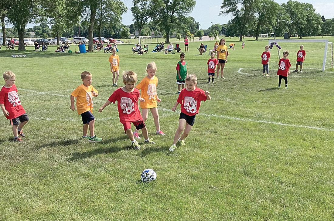Photos courtesy of New Ulm Park and Recreation Youth soccer leagues run for children ages four to 10.
