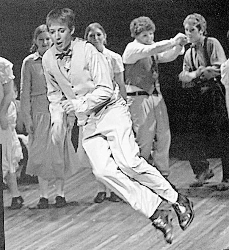 "Submitted photo from eh Cathedral High School yearbook David Rysdahl in the play ""The Music Man"" at Cathedral High School in New Ulm."
