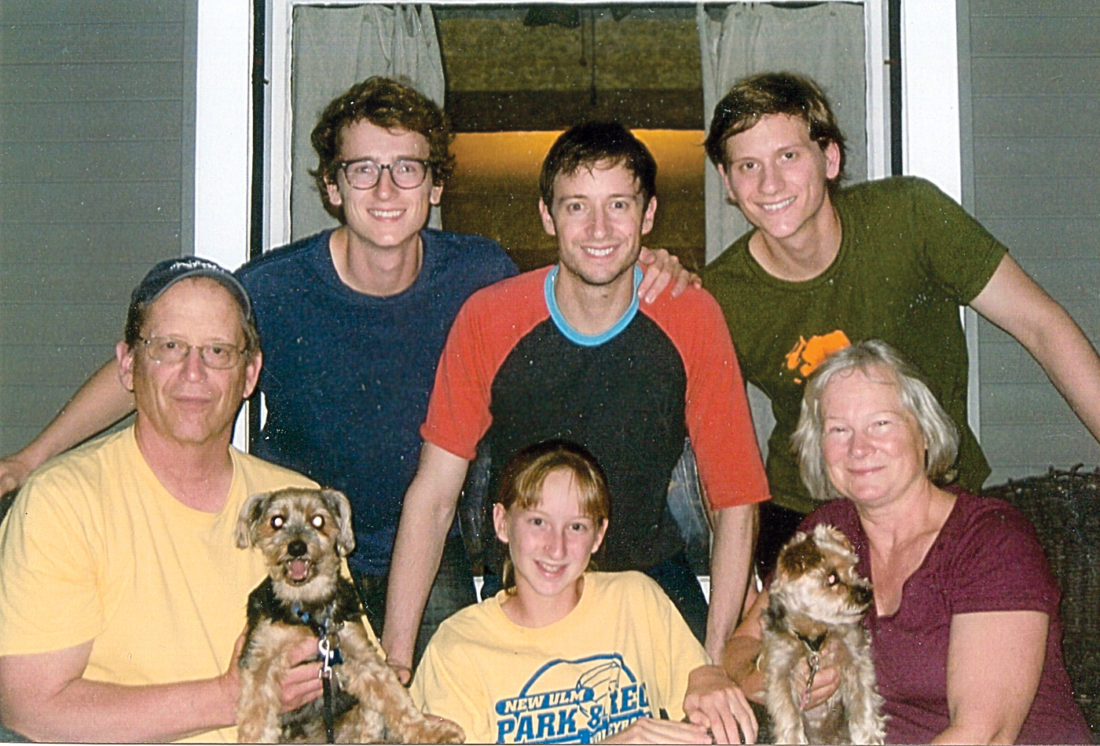 Submitted photo David Rysdahl (back row center) with his family from left; father Dr. Scott Rysdahl, brother Isaac, sister Kaye, brother Gabriel and mother Gigi.