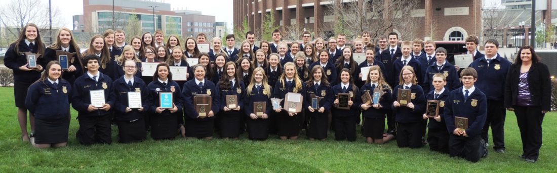 Submitted photo Members of the Sleepy Eye FFA Chapter at the Minnesota State FFA Convention.