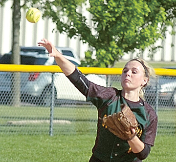 File photo by Steve Muscatello Sleepy Eye St. Mary's junior shortstop Jody Hansen is a big reason why the Knights are making the trip to the Class A state softball tournament. The Knights open with Pillager at 1 p.m. on Thursday at Caswell Park in North Mankato.