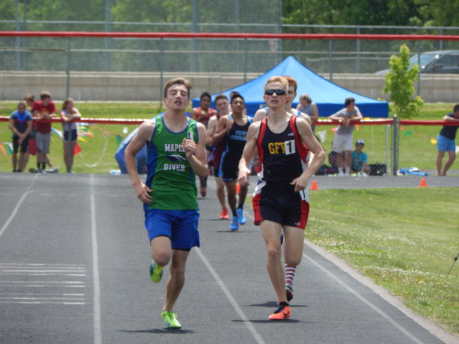 File photo by Fritz Busch Gibbon-Fairfax-Winthrop's Samuel Stresemann competes in the 1600-meter run at the Section 2A track and field meet last Saturday at Mankato West High School. Stresemann qualified for state in both the 800 and 1600.