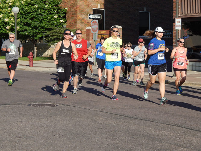 Citizens Race to Raise 5k runners and walkers take to the streets and New Ulm bike trail Saturday morning. Mark Weinkauf, 31, of New Ulm finished first in 19:38.15. Greg Hartmann of Gibbon was second. Gwynne Gutzke of New Ulm was the first female finisher in 24:06.21. There were 63 finishers. All proceeds benefit the American Cancer Society. For more results, visit www.gopherstateevents.com.