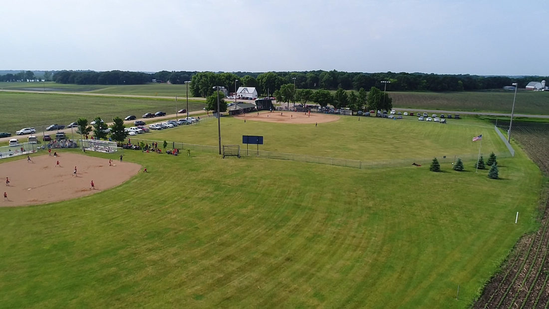 Submitted photo This recent photo was taken from a drone flying over the Sigel Ball Park fields.