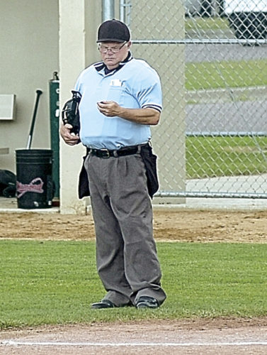 "Staff photo by Steve Muscatello Steve ""Kirky"" Dittrich is stepping down from umpiring amateur baseball after 25 years. He will still officiate high school and Legion baseball games."