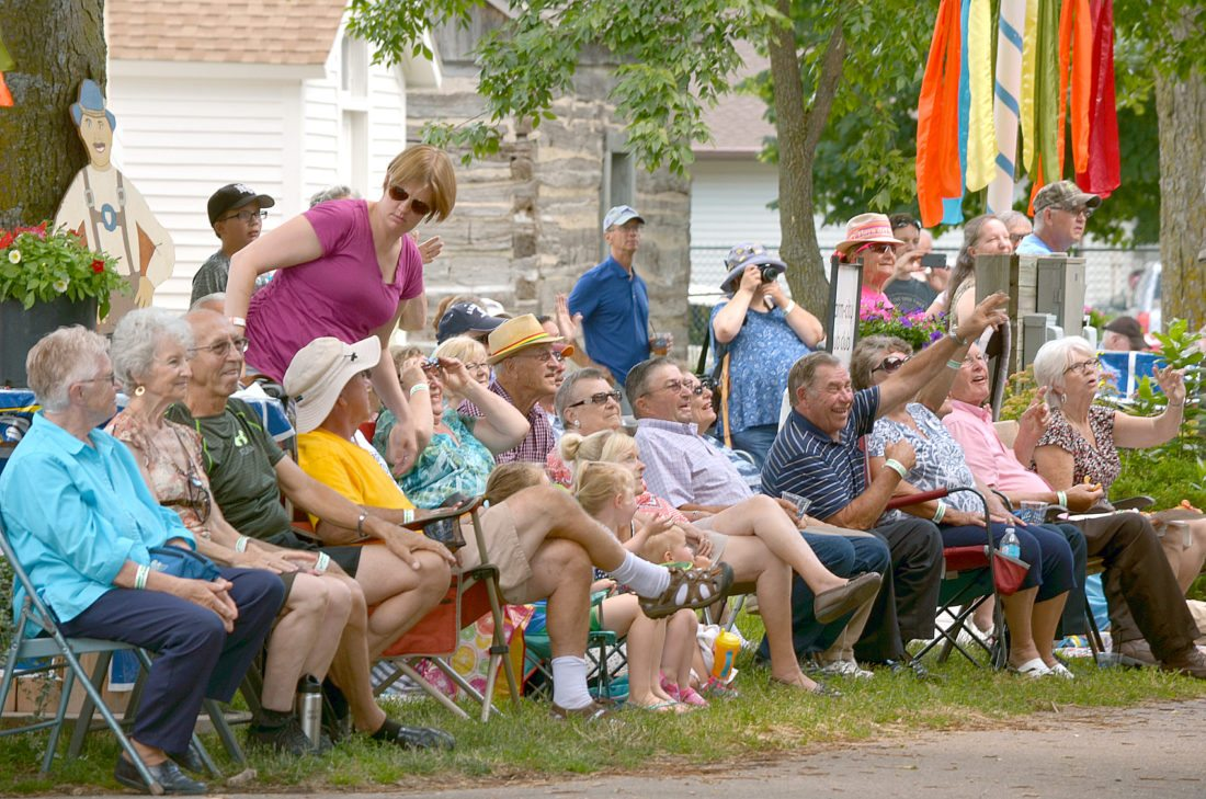 The streets were lined with chairs, blankets, and candy-seeking kids Sunday during the Bavarian Blast Parade.
