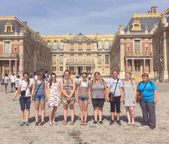 Submitted photo Girl Scout troop 30158 from New Ulm traveled to London and Paris in June. The scouts raised funds and planned the trip for several years.  The objectives of the trip included studying different cultures, history, art and architecture.  The girls spent nine days in London and England and six days in Paris.  During their travels they saw many historic churches and castles. They saw monuments, Roman buildings and event ancient Stonehenge. They had the opportunity to learn about 16th century architecture, British royal history and the French revolution. Of course the group also visited some very popular tourist sites like the Eiffel Tower.  One goal of the trip was to try foods from different cultures. Visiting large international cities makes it possible to try foods from many places. The group ate foods from England, Wales, France, Turkey, India, Spain and Italy.  International foods added some spice to our adventure. Girl Scouts is supported by the United Way.  The organizations goal is to teach girls the confidence to lead others in making the world a better place.  This trip helped the scouts to better understand the cultures and history that shape our world.   Scouts attending the trip(pictured):  Maddy Stewart, Sam Guldan, Leah Schmitt, Cassandra Kretsch, Mackenzie Braulick, Allison Kletscher, Jaycey Hillesheim and Georgia Leif. Troop leaders are Joan Krikava and Naomi Stewart.  Parents (not pictured) Ronda Kletscher, Kelly Hillesheim, Shari Kretsch and Doreen Schmitt came along on the trip.