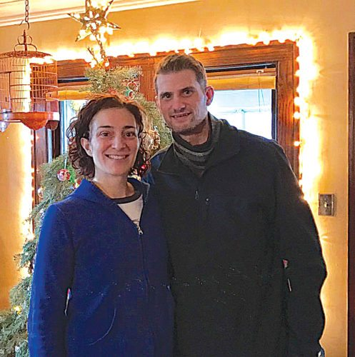 Submitted photo Cousins Robin Huiras and Joe Huiras together last December. Both have Dyskeratosis Congenita, a rare hereditary disease.