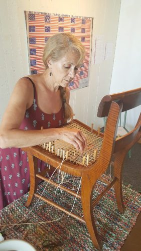 Submitted photo Local artist Maggie Schwab will demonstrate chair caning at the Historic Kiesling House this Sunday.
