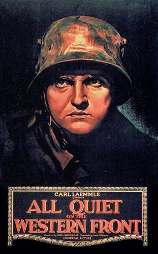 "Photo via IMDB.com A poster for the 1930 classic film ""All Quiet on the Western Front."""