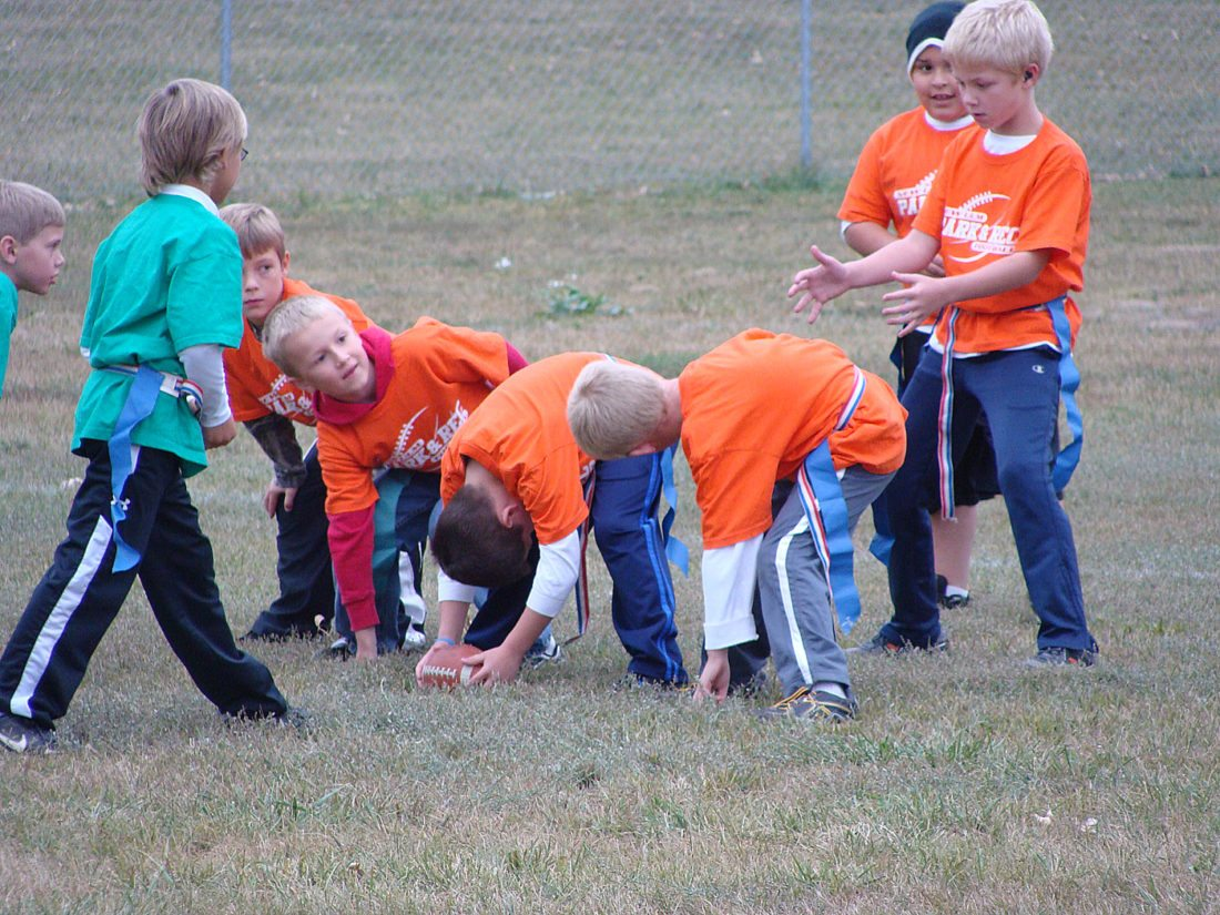 Youth flag football is available for those in grades 1-5.