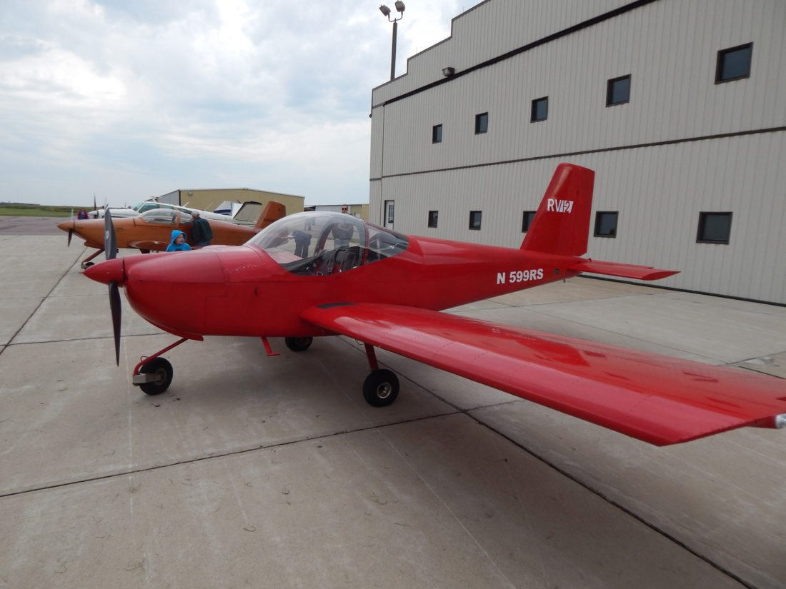 A good number of experimental airplanes, pilots and visitors attend the Lions Club of New Ulm Fly-In Breakfast at the New Ulm Municipal Airport Sunday.