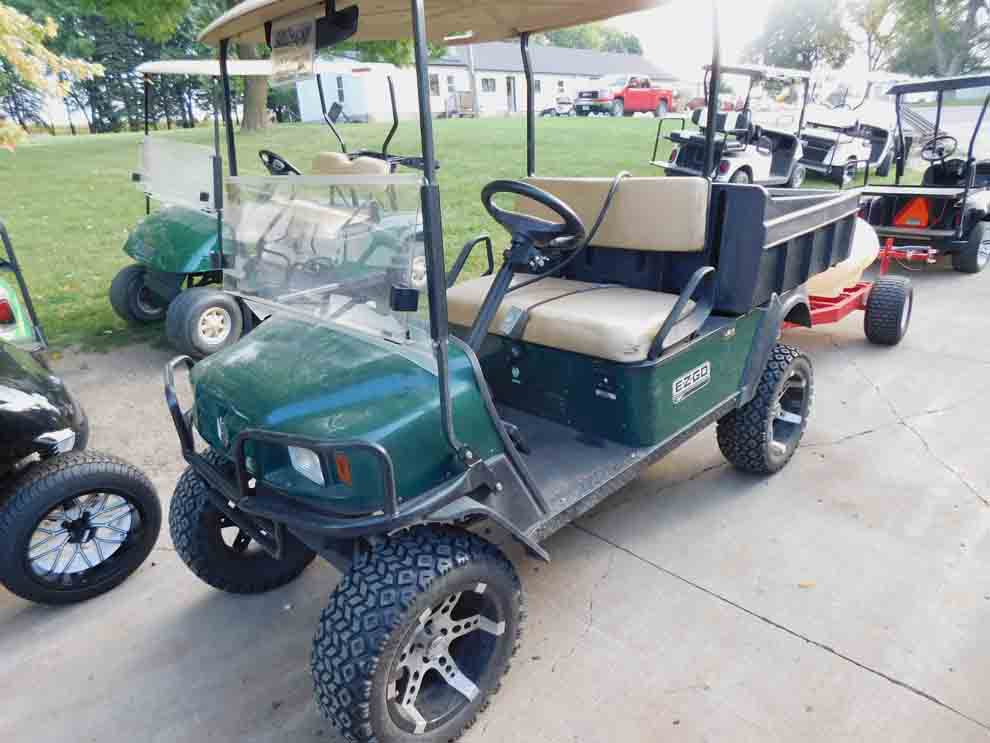 Staff photo by Clay Schuldt Golf carts are relatively simple vehicles with endless customized option. Lift wheels are one of the most popular options. The taller wheels are usually for aesthetic purposes rather than performance.