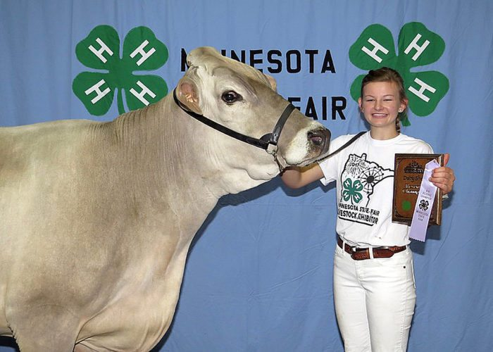 Submitted photo Crystal Portner was honored as the 3rd Place Dairy Showcase recipient receiving $3000. Crystal also had the Reserve Champion Brown Swiss Total Merit Cow.