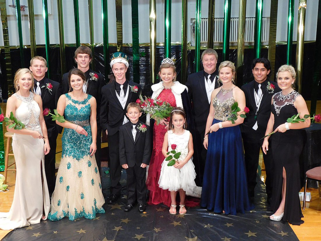 The 2017 St. Mary's Homecoming King and Queen are Luke Miller and Crystal Portner. Crystal is the daughter of Tom and Mary Portner. Luke is the son of Ron and Melissa Miller. Miller and Portner were crowned during Sunday night's coronation. The 2017 Homecoming court: (left to right) Dani Weiss, Brandon Wait, Kelsie Kosak, Max Heiderscheidt, Homecoming King Luke Miller, Junior Attendant Adam Braulick, Homecoming Queen Crystal Portner, Junior Attendant Joslyn Sellner, Dalton Meyer, Alie Beltz, Andrick Sanchez and Jody Hansen.
