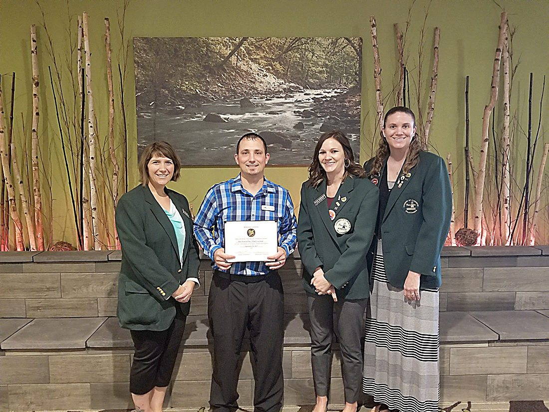In the photo are: Darcy Lund, First Choice Pregnancy Services; Chad Cooreman, Green Mill; Katie Nosbush, United Prairie Bank; and Lynn Fink, Citizens Bank Minnesota.