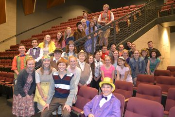 The cast and crew for Willy Wonka and the Chocolate Factory.