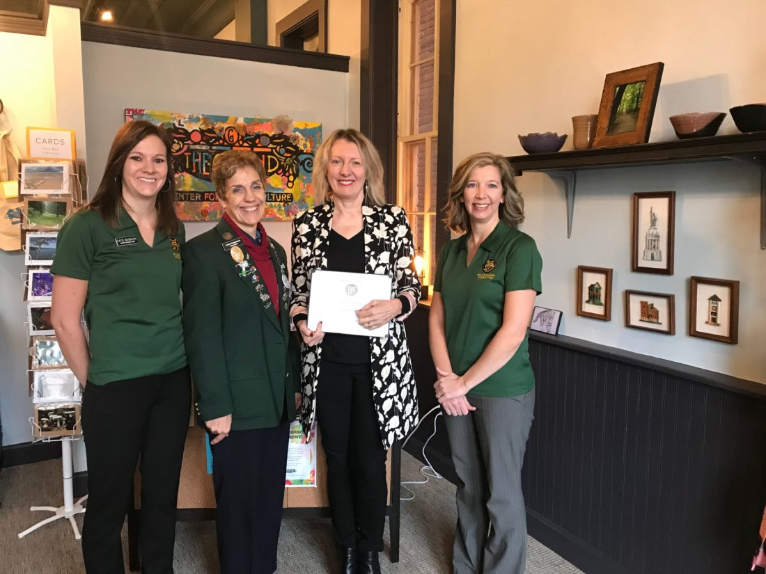 Katie Nosbush, United Prairie Bank; Linda Neigebauer, Alliance Bank & Trust; Anne Makepeace, The Grand Center for Arts & Culture; and Amy Pearson, Thrivent Financial.