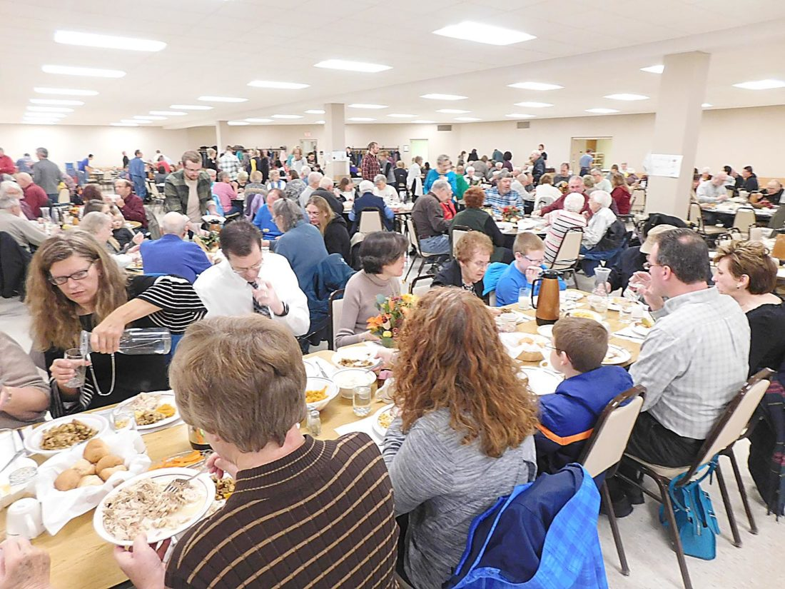 Community comes together for Thanksgiving feast at Greenville church