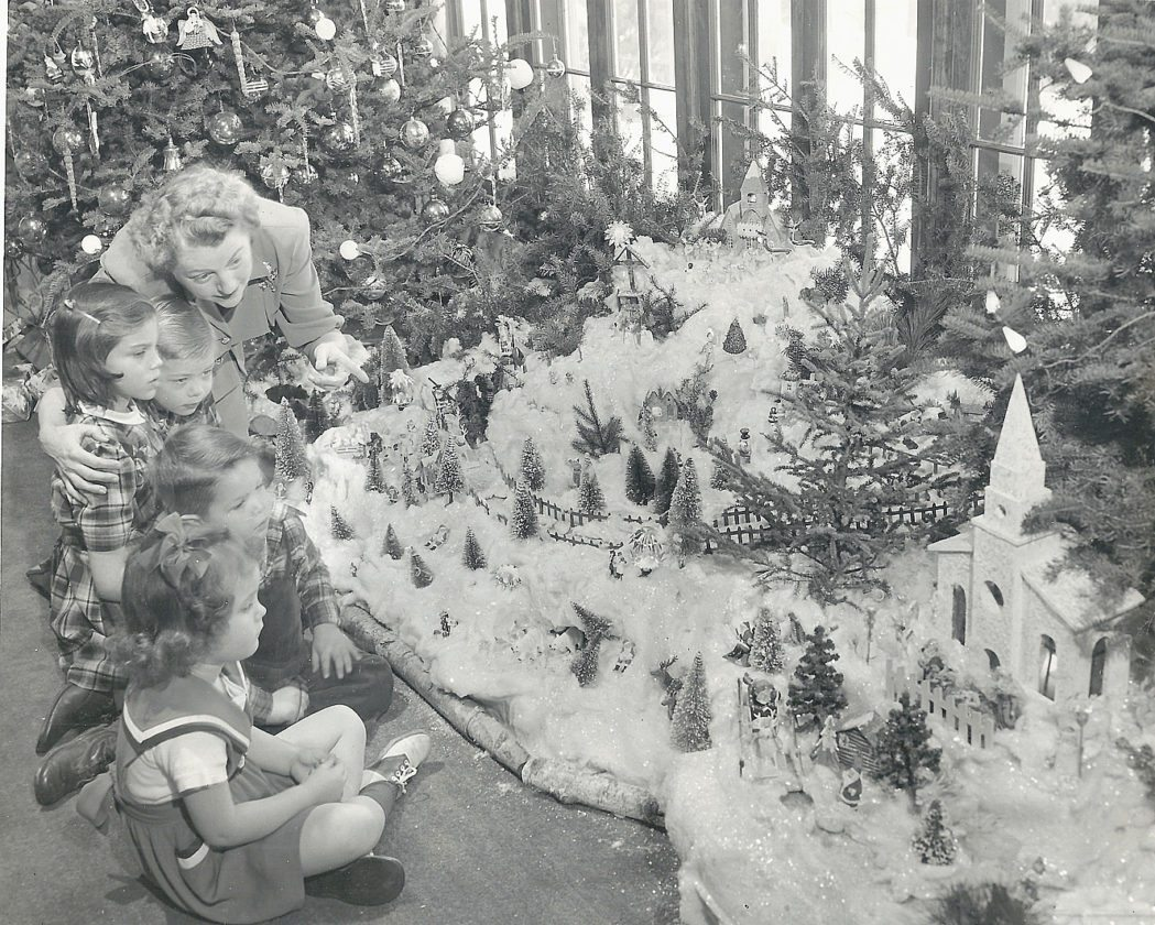 Photo courtesy of Brown County Historical Society Before donating her collection to the Brown County Historical Society in the 1980s, Louise Fritsche Menzel would setup her miniature village in her home and invite children in to view the display. She would often share stories with the children about the inhabitants of her little winter town.