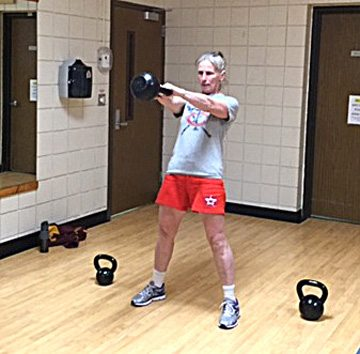Submitted photo Marie Kuehn is participating in a kettlebell class, which is held at 6:45 p.m. on Monday nights.