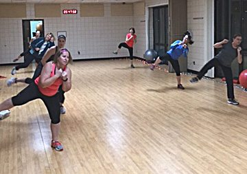 Submitted photo Cardio kickboxing participants in action at the New Ulm Park and Recreation center.