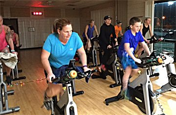 Submitted photo The New Ulm Park and Rec department offers a Spin and Core class at 5:30 p.m. on Monday.
