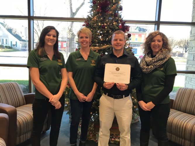 In the photo are: Katie Nosbush, United Prairie Bank; Tami Leuthold, River Valley Woman; Jeff Amundson, Bank Midwest; and Amy Pearson, Thrivent Financial.