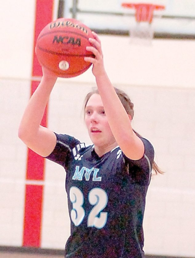 File photo by Steve Muscatello Minnesota Valley Lutheran's Lauren Paulsen looks to move the basketball during a Chargers' game at Martin Luther College earlier this season.