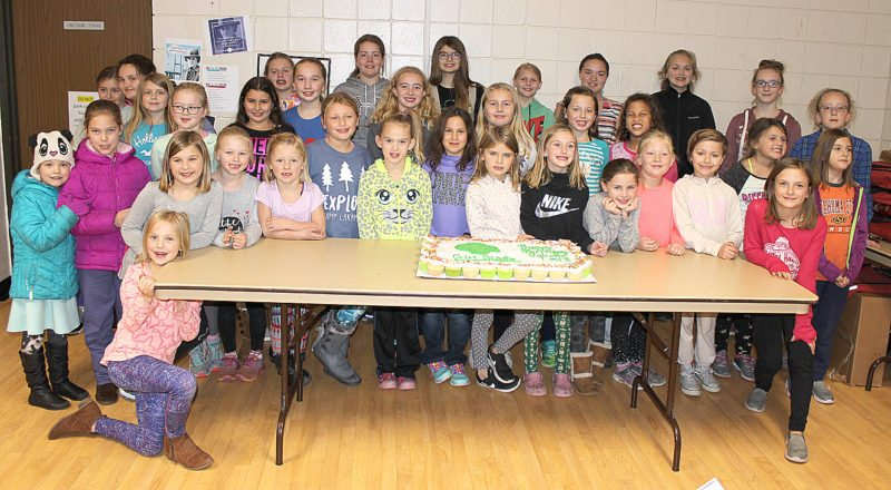 """New Ulm area Girl Scouts gathered in October for the annual """"Juliette Low Birthday Party"""" to celebrate the birthday of Juliette Gordon Low, who was born October 31, 1860 and is the founder of Girl Scouts in America. Held at the New Ulm Recreation Center, It was an evening of pizza, cupcakes, swimming and hanging out with fellow scouts."""